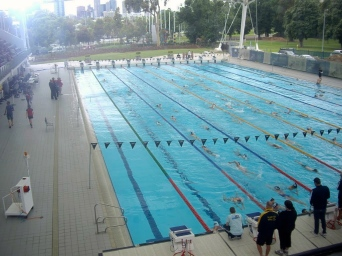 Frank's dream come true - an outdoor 50m pool!