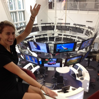 The state-of-the-art newsroom inside Annenberg.