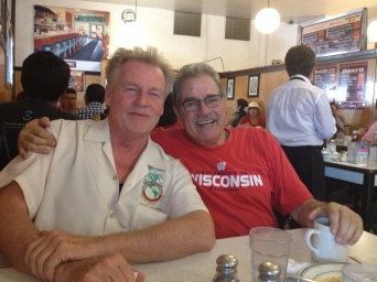Frank reminisced with an old California Teamster buddy, Pat Kelly.