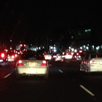 Bumper to bumper every day all day (and night).
