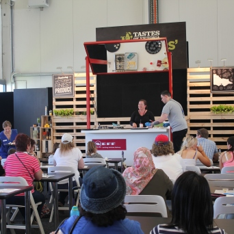 There were cooking demonstrations...